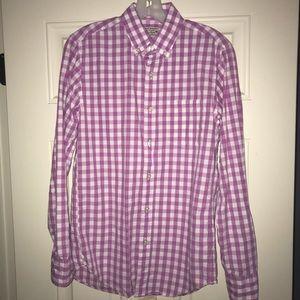 J Crew lavender gingham shirt